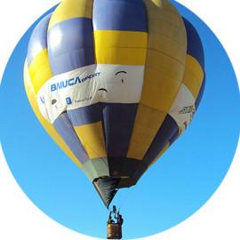 Balões de<br/>ar quente